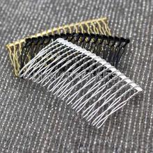 50pcs Metal hair comb fascinator supply 3 inch long mixed colors silver gold black DIY millinery, bridal birdcage veil