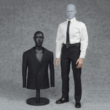 1/6 Male 3 Color Formal Suit & Shoes Clothes Set Black/Navy Blue/Grey Color for 12 inches Man Action Figure(China)