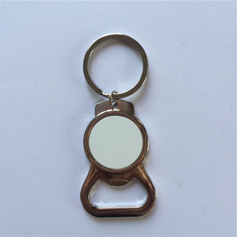 metal keychains for sublimation blank Open wine key ring for thermal transfer printing Dye Sublimation lover's gifts