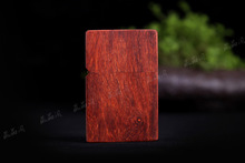 2016hot selling Creative exquisite luxury solid red sandalwood lighter high quality  lighter gift to friend free shipping lxq401
