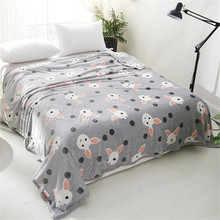 PanlongHome Wonton Blend Blanket Thickened Coral Vest Nap Sleeper Cover Blanket Bed Air Conditioning Blanket Towel