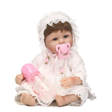Classical Russian Reborn Baby Dolls Safe Silicone Toys 16'' Suck pacifier Real Like Newborn Baby Dolls Fashion Gifts For Kids