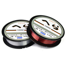 Daiwa 100m Fluorocarbon Fishing Line Two Colors Red/Clear 3.5LB-40.5LB Carbon Fiber Leader Line Fly Fishing line Pesca