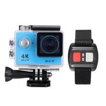 "2.0"" LCD 4K 15fps 1080P  Full HD Wifi APP 30M Waterproof  Sports Action Camera DV 170Degree Wide Angle Lens with Remote Watch"