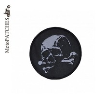 White Skull Circular Harley Rider Biker Vest New Jacket DIY Parts Loco Motive Embroidery In Applique Iron On Skulls Patches