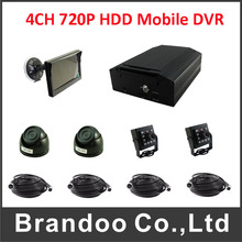 4CH HDD Hard Disk Mobile Dvr H.264 Motion Detection Cycle Recording VideoRecord Mdvr camera kit(China)