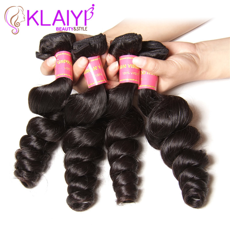 Brazilian Loose Wave No Shedding No Tangle Virgin Hair Weave Bundles 4pcs/lot 7A Unprocessed Human Hair Loose Wave Freeshipping<br><br>Aliexpress