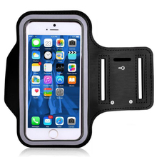 arm mobile phone bag 4.7inch 5.5inch Running Arm Band Leather Case Dirt-resistant Hand Mobile Phone Holder for iphone(China)