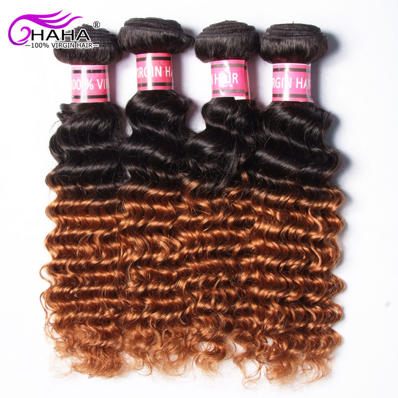 Brazilian Deep Curly 1b/30 7a Grade Brazilian Virgin Hair Deep Wave,Ombre Brazilian Hair Deep Wave Ombre 4 Bundles<br><br>Aliexpress
