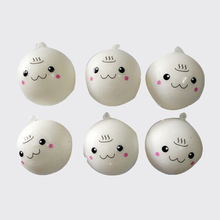 Lovely Cartoon Face Squishy Buns Bag Key Mobile Phone Straps Pendant 4cm Chain Cellphone Hot Sale Lanyard Mobile Phone Strap(China)