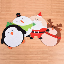 Christmas Coffee Table Water Coaster Insulation Pad Xmas Christmas Cup Mats(China)