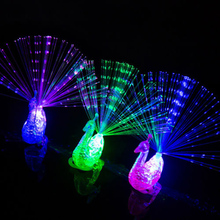 10pcs Finger Light Ring Laser LED Party Rave Favors Beams Fun Peacock Toys Torch Christmas Celebration