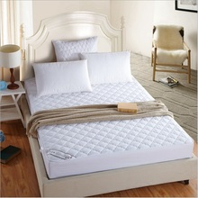 one white quilted elastic Mattress Protection Pad with filling hotel mattress cover 6 size available(China)