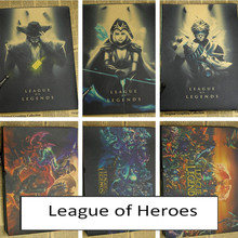 Heroes League poster mural wallpaper LOL dark Internet cafes game online game wallpaper decoration wall stickers(China)
