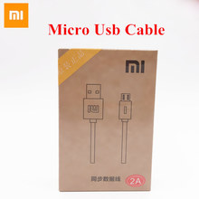 Original XIAOMI Charge Cable For MI 1 2 3 4 Note 2 Red Rice Mobile Phone 120cm Length 2A Output Micro Usb Charger Data Cable
