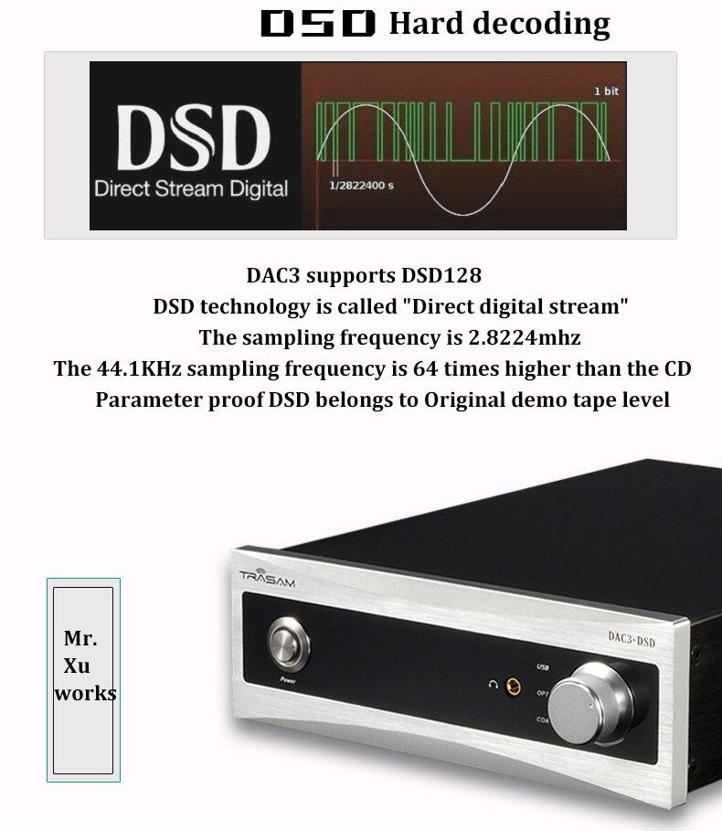 2017 New Trasam DAC3 HiFi Digital Audio Decoder Input USB/Coaxial/Optical Loseless Player&Headphone Decoder