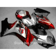 Free customize fairing kit SUZUKI GSXR 1000 K7 K8 2007 2008 fairings red silver black 07 08 GSXR1000 ABS bodykits JS31 - ZXMOTOR Fairings Store store