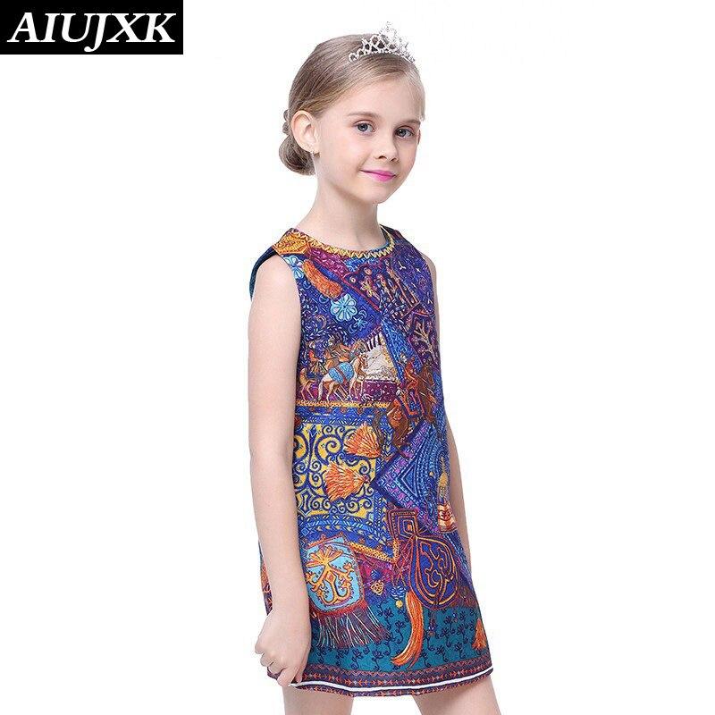 2017 Chinese Style Girl Dress Summer Kids Vest Dress Girls Sleeveless Dresses Print Girl Princess Party Dresses OUMU33<br><br>Aliexpress