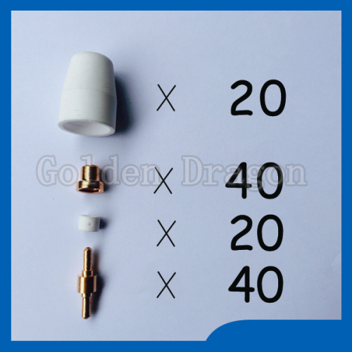 Free shipping PT-31 LG-40 Air Plasma Cutter Cutting Accessories Consumables KIT Plasma Nozzles TIPS Fit Cut-40 50D CT-312,120PK<br>