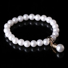 2017 Fahsion Crystal Imitation Pearl Bracelets For Women Light Bulb Pendant Bracelets & Bangles Pulseras Mujer Jewelry
