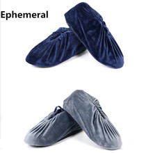 Disposable cotton fabric Cheap Shoes Storage Pouches washable Shoes Covers For Ladies and Mens On Factory indoor 10pairs(China)