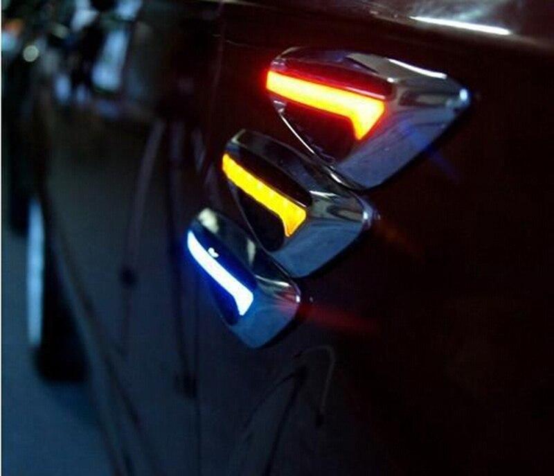 One Pair 2pcs Universal Car Steering light Fender Side Lamp  Blade Shape Auto Car LED Side Lights Marker Car Turn signal Lights<br><br>Aliexpress