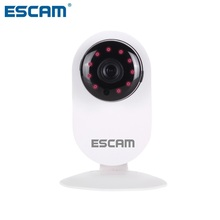 ESCAM 3.6mm Lens Ant QF605 WIFI 720P P2P IP Camera Surveillance Cameras Support Android IOS For Home Company EU Plug(China)