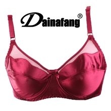 Size 34-42 Lace Crop Top Plus Size C D DD Cup Women Sexy Gold Silk Bras thin bracelet bras Lingerie Intimates Free Shipping