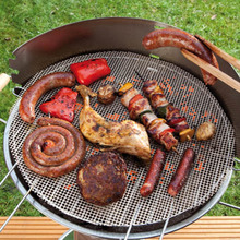 Non-Stick Frying Pan Pad Round Liner Sheet Barbecue Grill Mat Tools For Microwave Oven Outdoor BBQ Accessories(China)