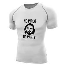 No Pirlo No Party Andrea Juventus Mens Compression Top Tees Shirts Quick Dry T-shirt Fitness boys Bodybuilding Base Layer gifts