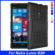 New Armor Hybrid Shock Proof Silicone + Hard Shell Cell Phone Case Cover For Nokia Lumia 830 Case Back Cover Protective Skin(China)