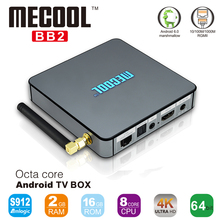 Fully loaded TV Center MECOOL BB2 Amlogic S912 Octa core ARM Cortex-A53 2G/16G Android 6.0 TV Box WiFi BT H.265 4K Media Player