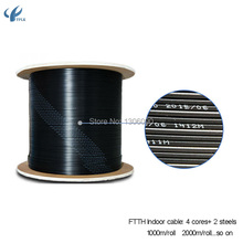 2000m/roll 4 Core GYXTW Central Tube Light-armored Cable Multi Loose Tubes Armoured single mode fiber optic cable(China)