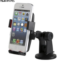Automatic lock car phone holder Universal car navigation system Car sucker Mobile phone bracket 360 Rotating car phone holder(China)