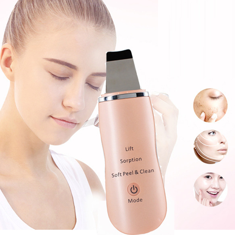 Ultrasonic Facial Peeling Vibration Massager Dead Skin Exfoliating Blackhead Remover Face Skin Scrubber Cleaner Beauty Device<br>