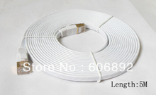 5M 10M 15M 20M Network Cable Ethernet Cable Cat7 RJ45 M/M Thin High Speed Flat Shielded Twisted Pair Internet Lan