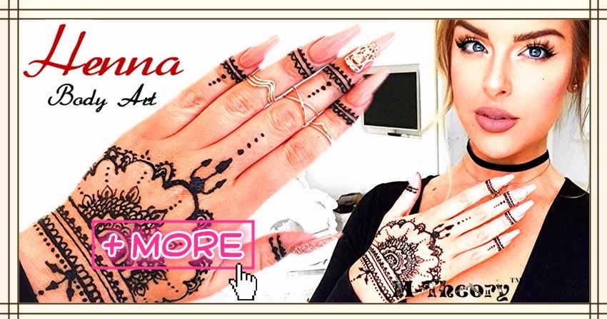 Women Fashion Mehndi Henna Cone Indian Wedding Temporary Tattoo Makeup Tool Waterproof 100% Safe 1
