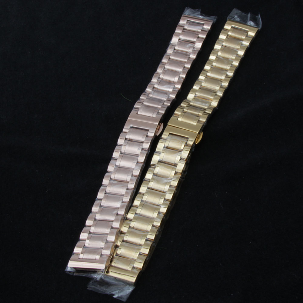 Watch Band Stainless Steel Solid Link WatchBand Bracelet Straight End accessories men High Quality watchbands 19 20 21 22 23mm<br>