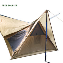 FREE SOLDIER Outdoor Sports Tactical Tarp Camping Hiking Tent For Walkers Portable Outdoor Tarp Picnic Tent(China)