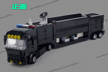 Police station SWAT Armored car jeep Military Series6510 3D Model building blocks compatible with lego city Boy Toy hobbies Gift