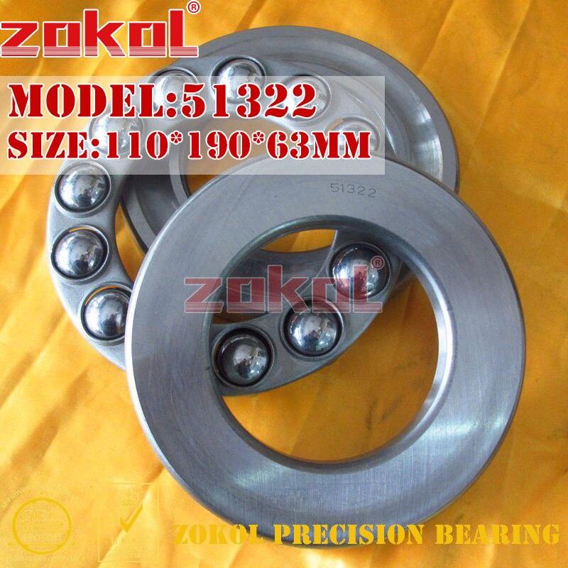 ZOKOL bearing 51322 Thrust Ball Bearing  8322 110*190*63mm<br>