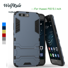Anti-knock sFor Case Huawei P10 Cover WolfRule Silicone & Plastic Case For Huawei P10 Case Cell Phones Holder Huawei P 10 Funda