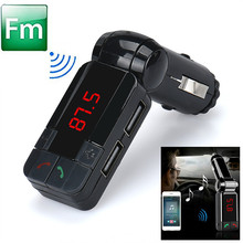 Best  price    Hot Dual USB Car Kit Charger Wireless Bluetooth Stereo MP3 Player FM Transmitter
