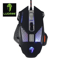 Buy LUOM-LM730 8 Programmable Buttons Wired Computer Gaming Mouse 3200 DPI Ergonomic Grip Game Mice PC Gamer for $13.59 in AliExpress store