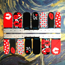 M-theory Nails Wraps Stickers, Sexy Red Hot Lips Designs, 3D Nails Arts Polish Gel   varnish Decorations Stickers