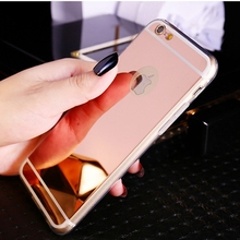 For Iphone 5 5S 5G Clear Phone Cases Fashion Luxury Ultra Slim Soft Case For Iphone 5S Silicone Edge + Shinny Mirror Back Cover
