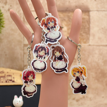 Love Live acrylic Keychain Housemaid Action Figure Pendant Car Key Chain Key Accessories 9 Styles LL011  LTX1
