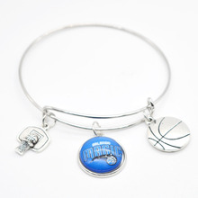 2017 New Basketball Charm Orlando Magic Bracelets&Bangle for Women Super Bowl Fans Jewelry