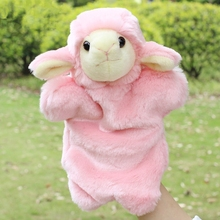 Hot Sale Cute Animal Hand Puppet Plush Toys Warm Stuffed Animal Story Telling Bedtime Parenting Soothing Dolls Kids Gift Toys(China)