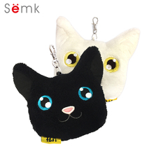 Lovely Cat Plush Coin Purse Name Badge Pet Cat Keychain Pendant Cosplay Decoration Toy Lovely Cash Pouch Purse Wallet Kids Gift(China)